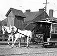 Horse drawn street car Boston