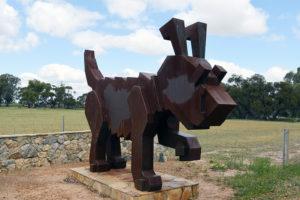 Rusty The Tin Dog Statue